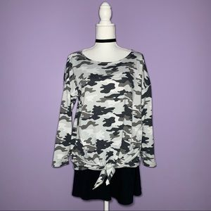 Knot Front Camo Top